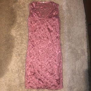 Pink lace dress size small